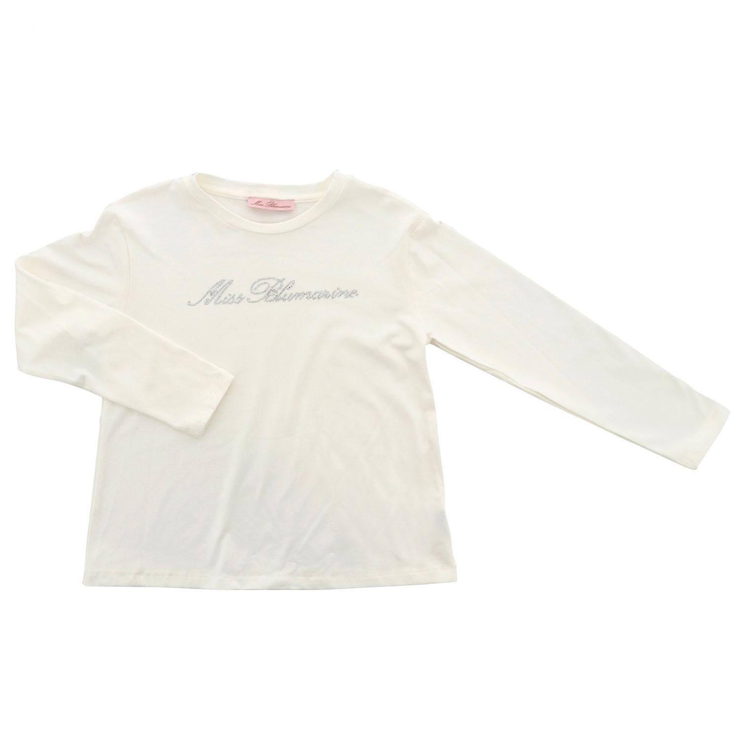 T-shirt kids Miss Blumarine yellow cream 1