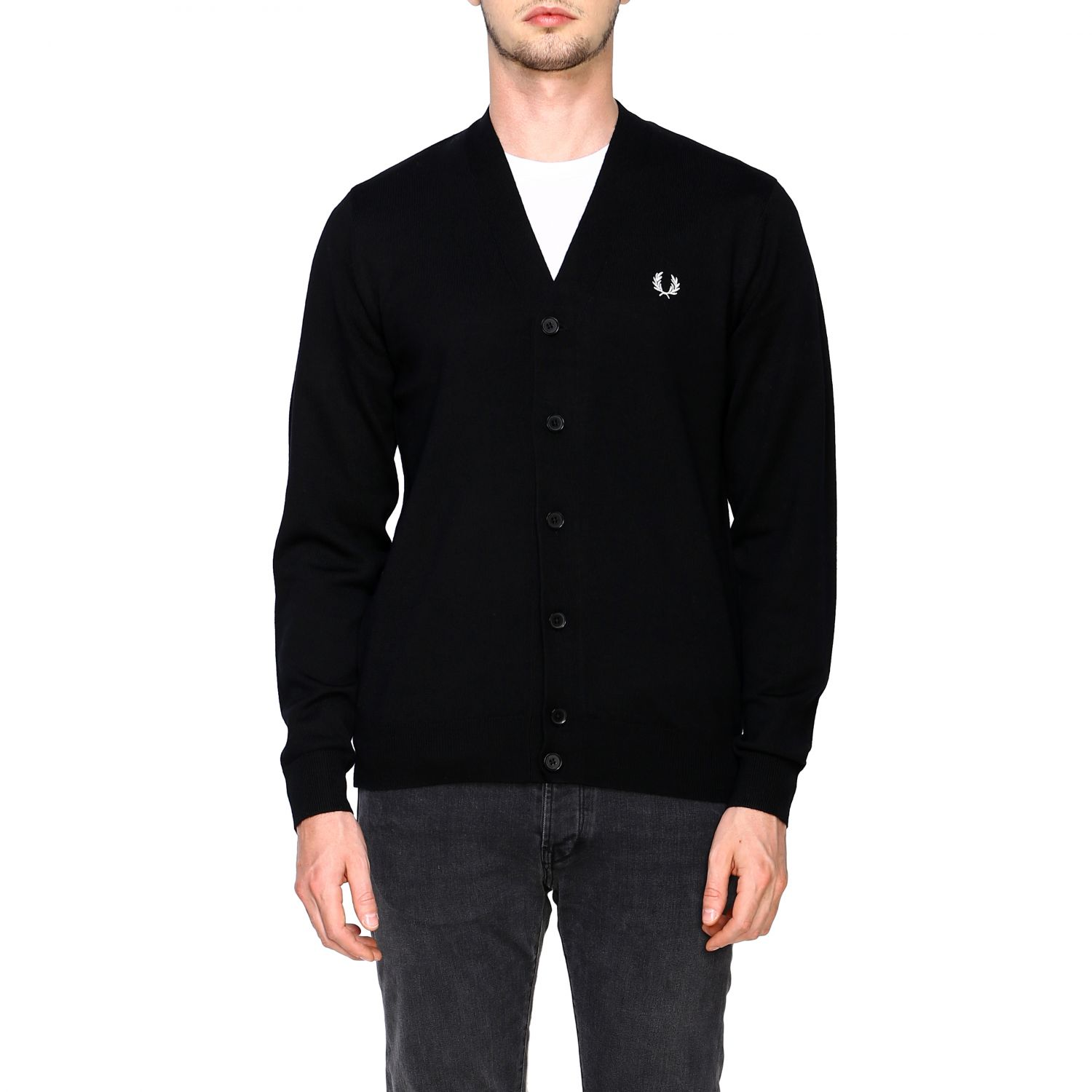 Cardigan Fred Perry: Jumper men Fred Perry black 1
