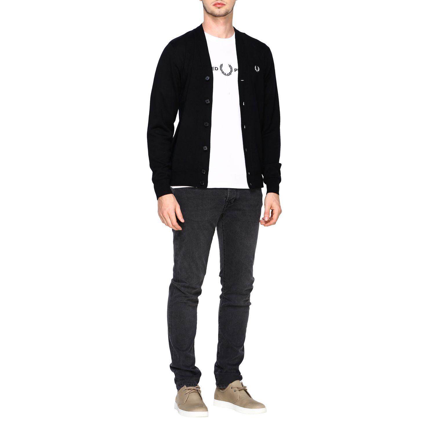 Cardigan Fred Perry: Jumper men Fred Perry black 2