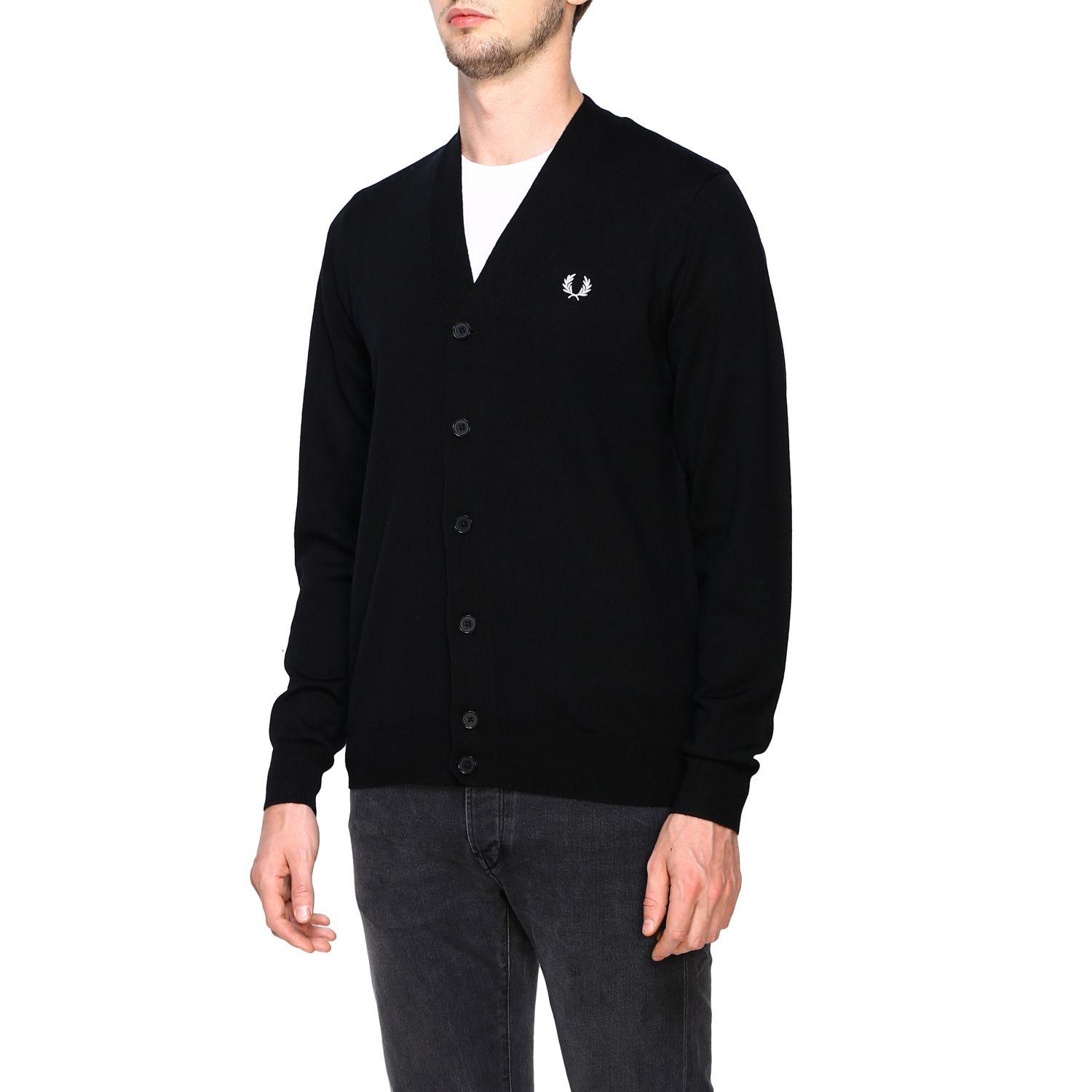 Cardigan Fred Perry: Jumper men Fred Perry black 4