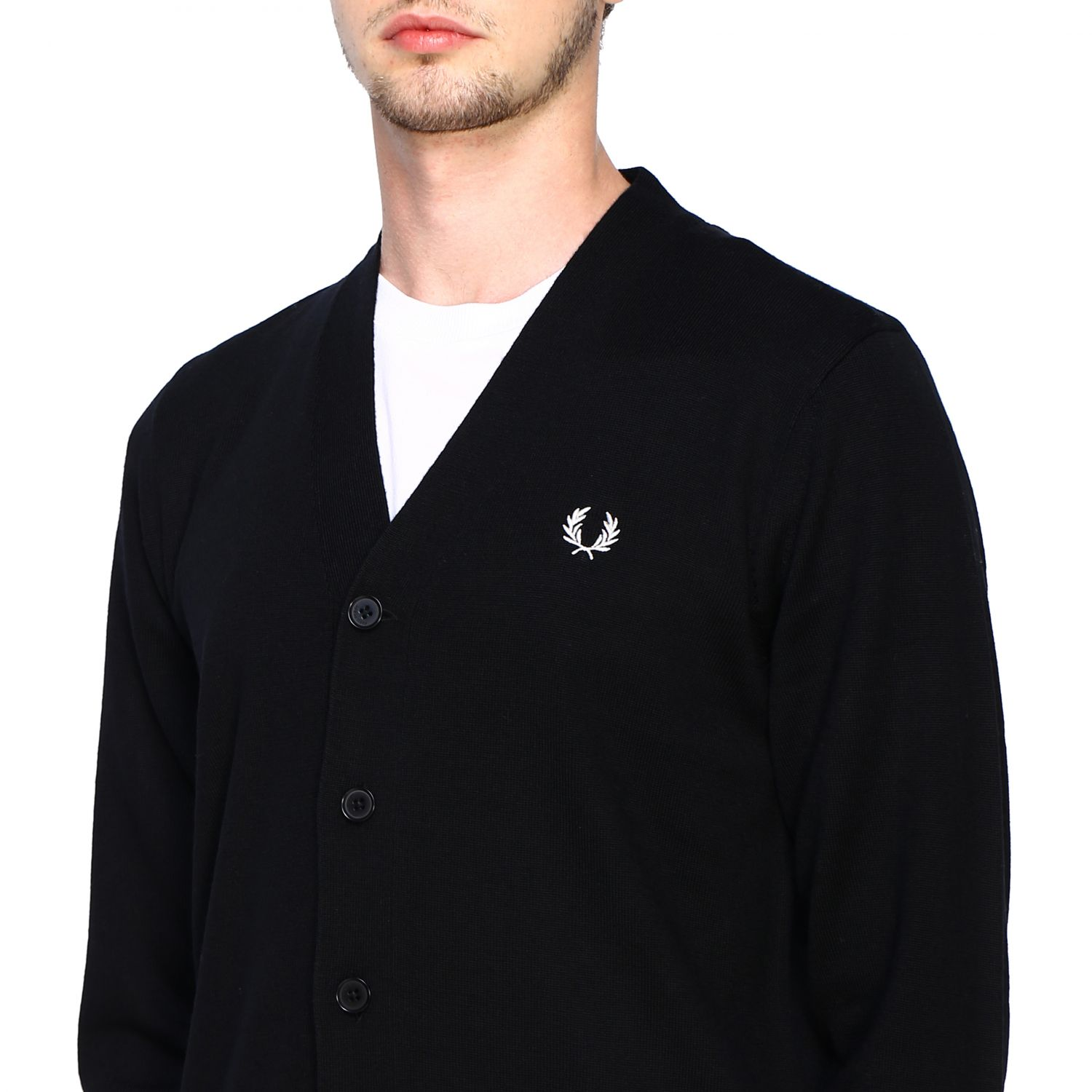 Cardigan Fred Perry: Jumper men Fred Perry black 5