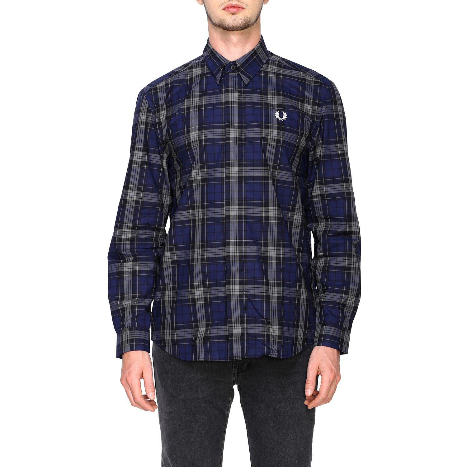 Shirt Fred Perry: Shirt men Fred Perry blue 1