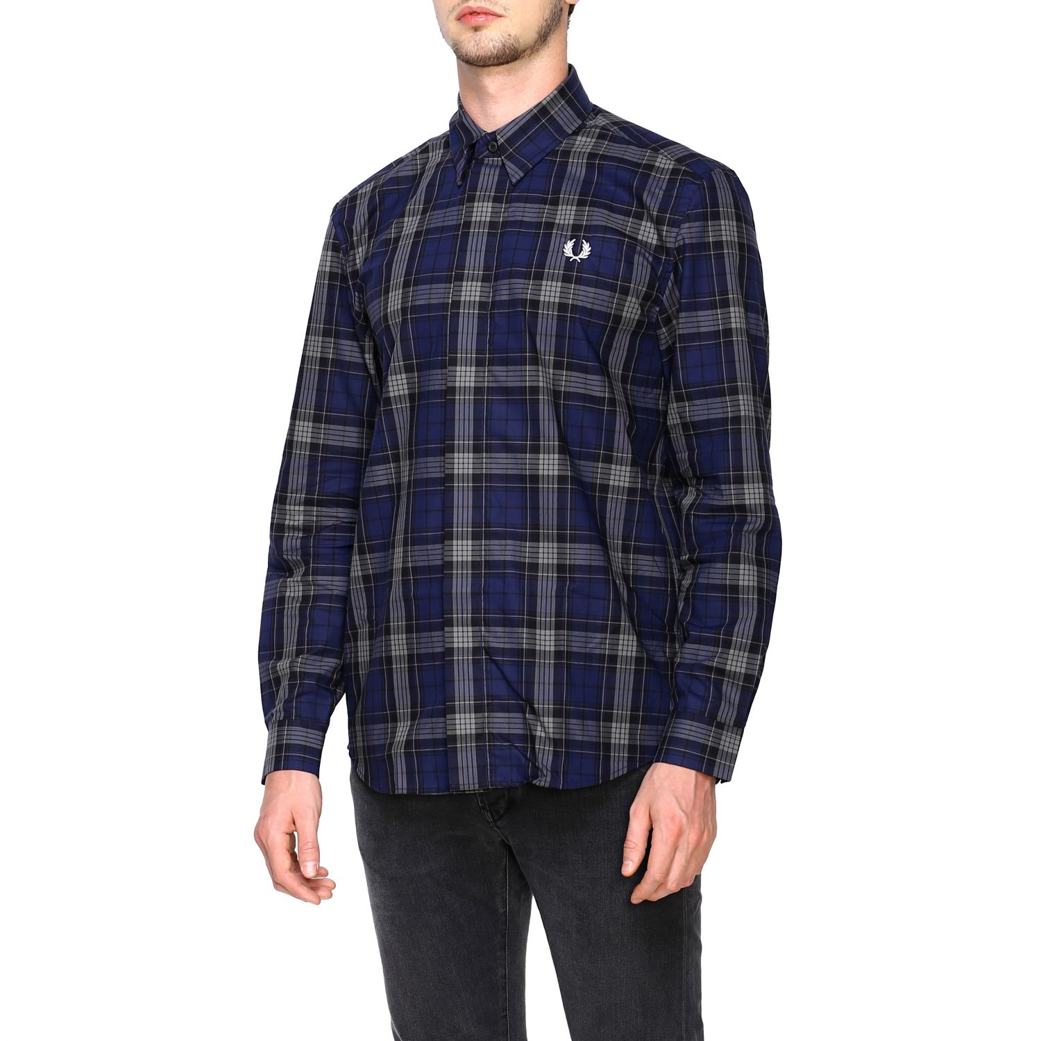 Shirt Fred Perry: Shirt men Fred Perry blue 4