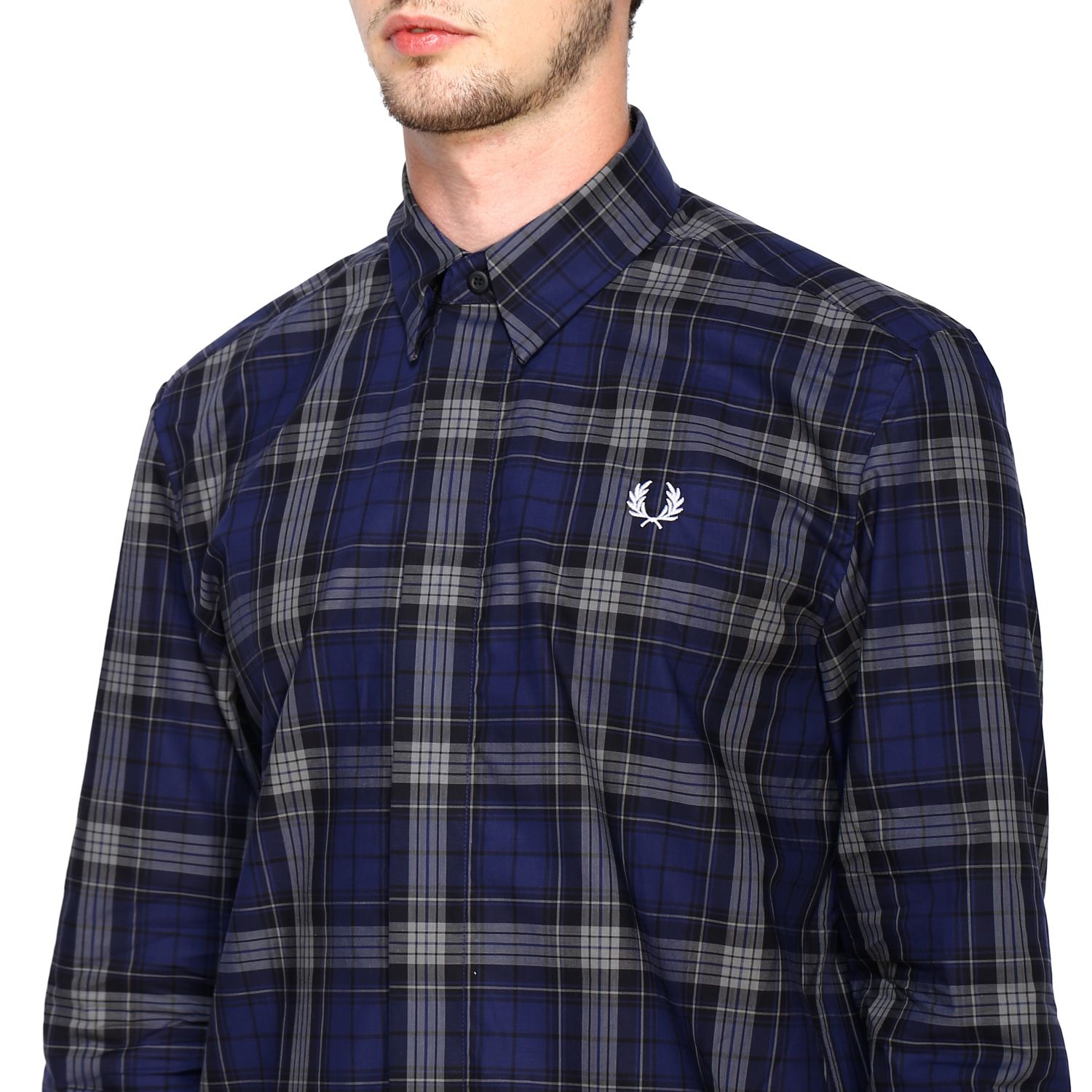 Shirt Fred Perry: Shirt men Fred Perry blue 5