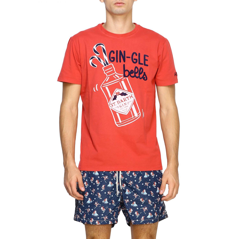 T恤 男士 Mc2 Saint Barth 红色 1