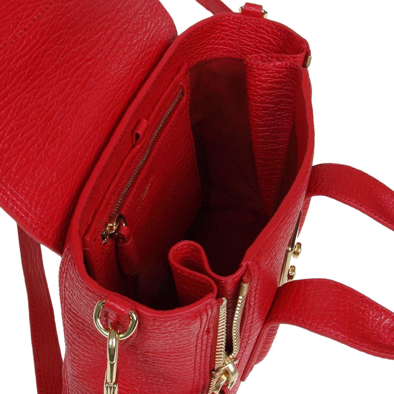 Borsa mini 3.1 Phillip Lim: Borsa Mini Pashli 3.1 Phillip Lim full zip in vera pelle con tracolla amovibile rosso 4