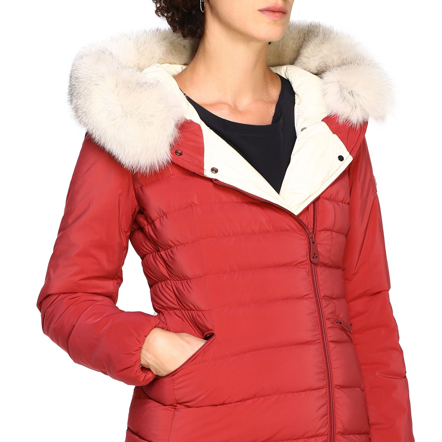 Jacket women Peuterey burgundy 5