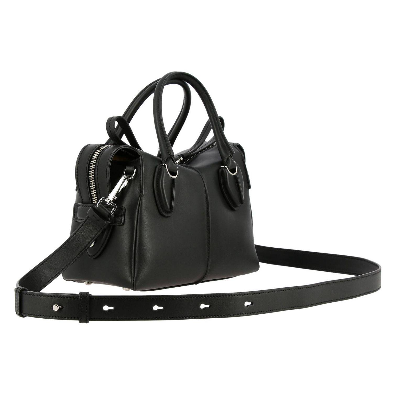 Tod's kleine D-Tasche aus Leder mit Schultergurt schwarz 3