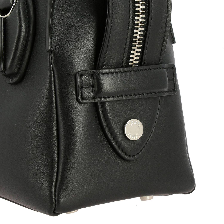 Tod's kleine D-Tasche aus Leder mit Schultergurt schwarz 4