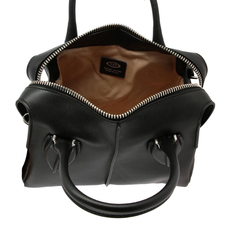 Tod's kleine D-Tasche aus Leder mit Schultergurt schwarz 5