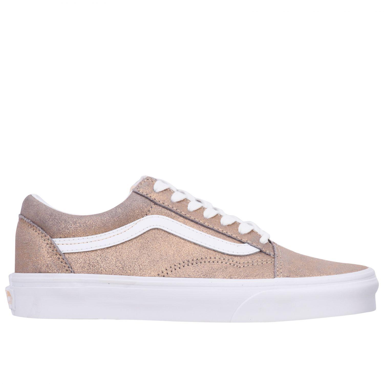 Vans Outlet: Zapatos mujer | Zapatillas Vans Mujer Oro ...
