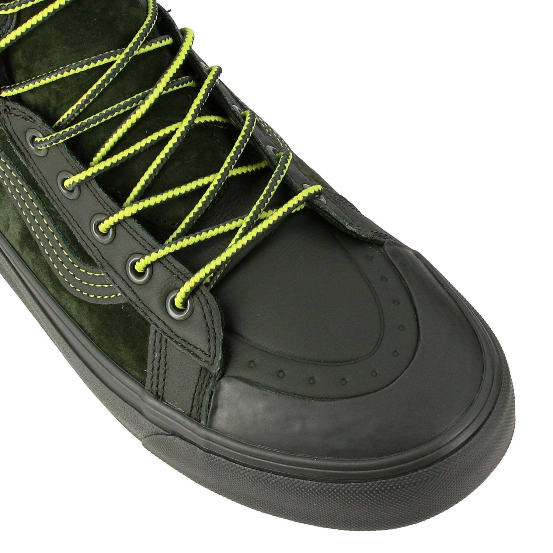 运动鞋 Vans: Vans Mte 360 sk8-hi 帆布绒面革荧光细节高帮运动鞋 军绿色 4