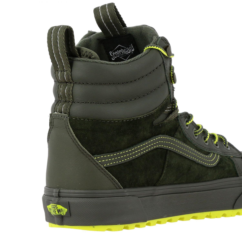 运动鞋 Vans: Vans Mte 360 sk8-hi 帆布绒面革荧光细节高帮运动鞋 军绿色 5
