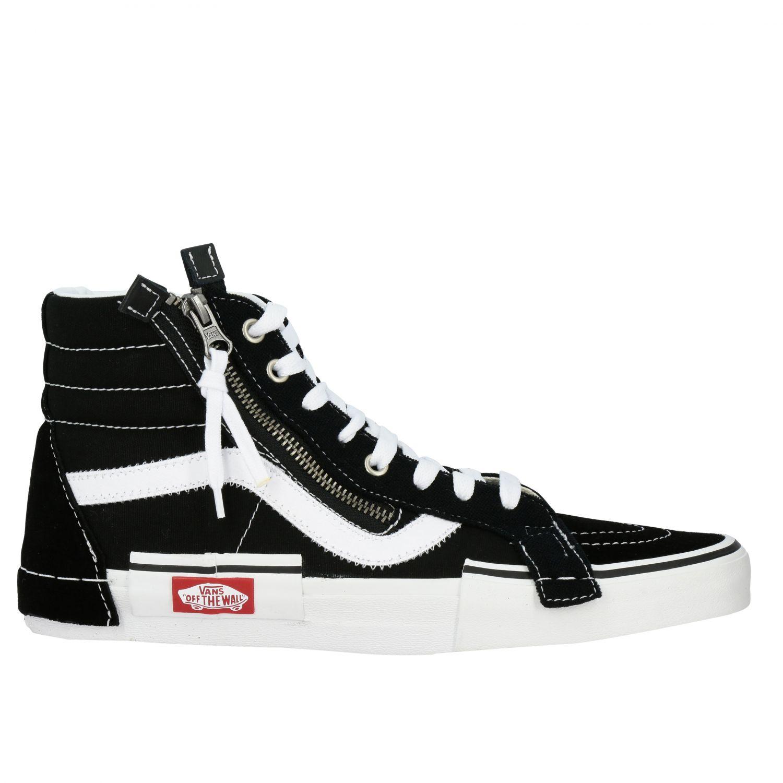 Vans Outlet: Sk8 hi reissue cap camoscio con zip | Sneakers Vans ...