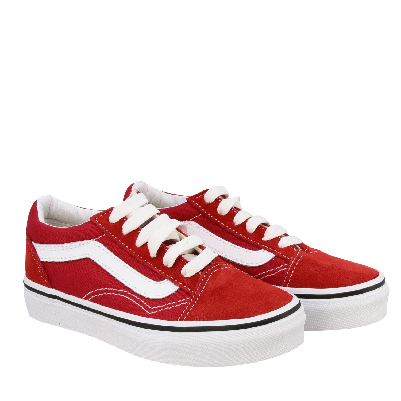 chaussure vans rouge enfant