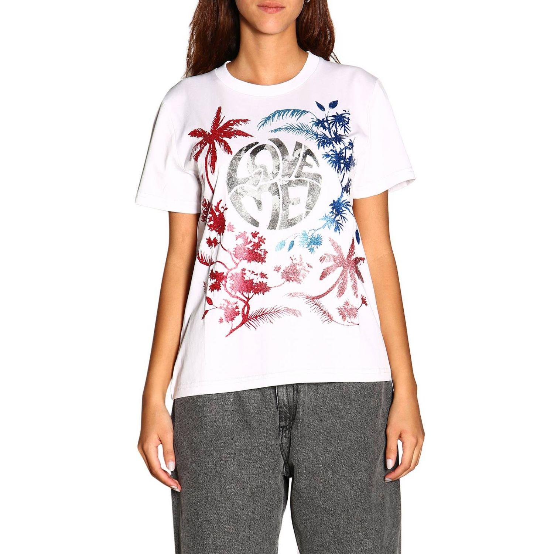 Camiseta Alberta Ferretti: Camiseta de manga corta con estampado de Alberta Ferretti save me blanco 1