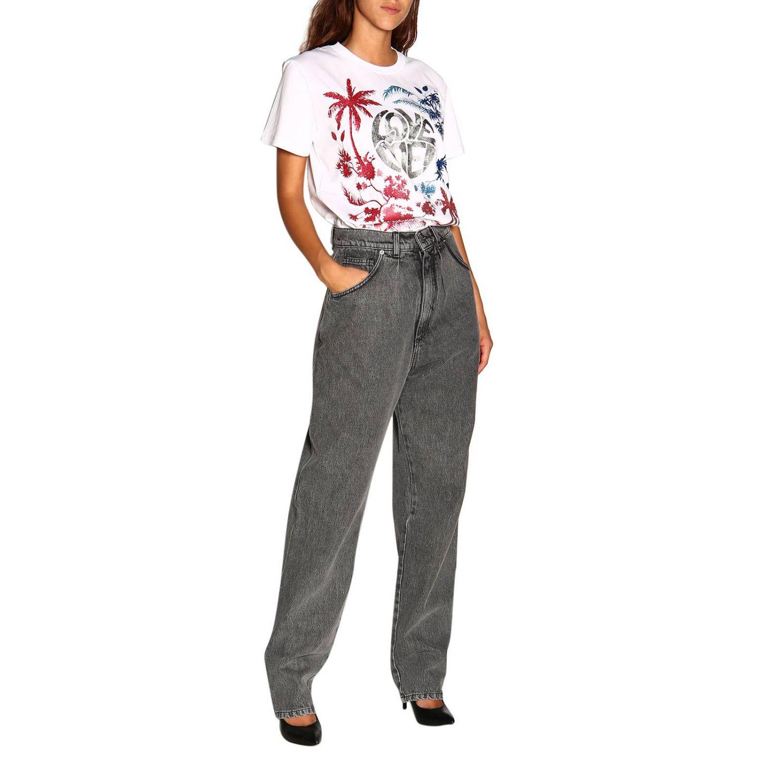 Camiseta Alberta Ferretti: Camiseta de manga corta con estampado de Alberta Ferretti save me blanco 2
