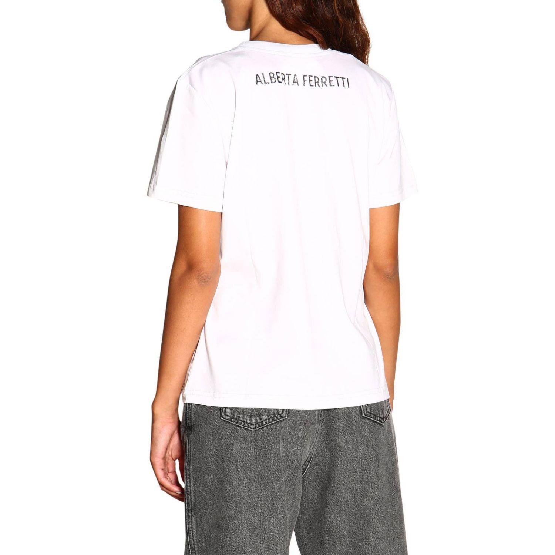 Camiseta Alberta Ferretti: Camiseta de manga corta con estampado de Alberta Ferretti save me blanco 3