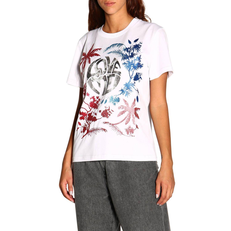 Camiseta Alberta Ferretti: Camiseta de manga corta con estampado de Alberta Ferretti save me blanco 4