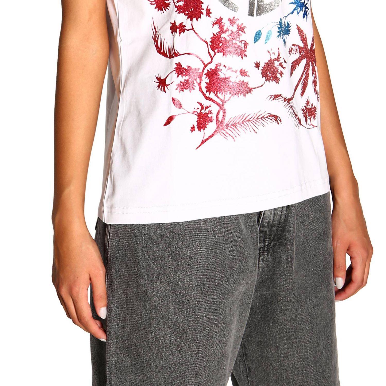 Camiseta Alberta Ferretti: Camiseta de manga corta con estampado de Alberta Ferretti save me blanco 5