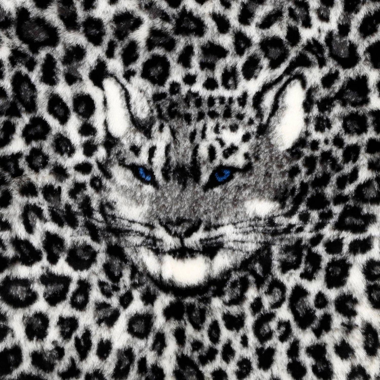 Шарф Alberta Ferretti: Шарф Maxi Alberta Ferretti из искусственного меха с изображением тигра серый 3