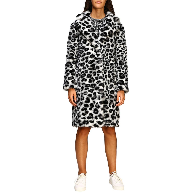 Fur coats Alberta Ferretti: Alberta Ferretti fur with animalier and lynx pattern grey 1