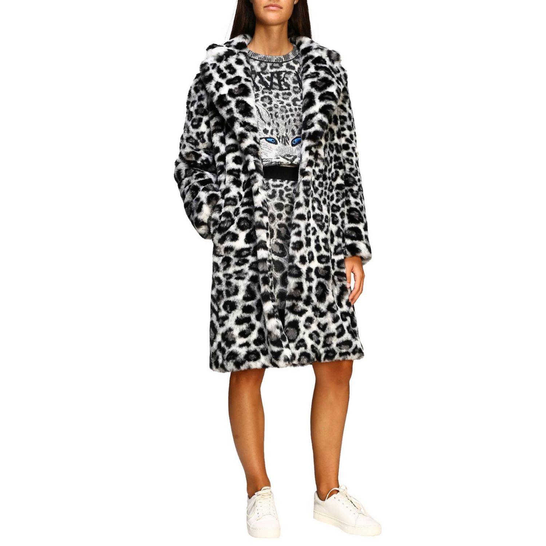 Fur coats Alberta Ferretti: Alberta Ferretti fur with animalier and lynx pattern grey 2