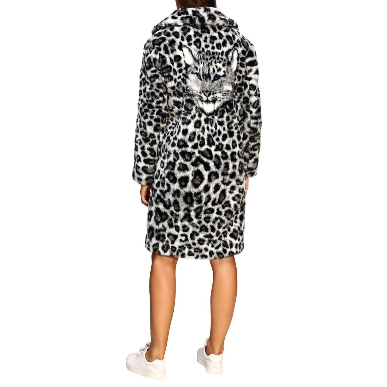 Abrigos de piel real Alberta Ferretti: Abrigo de Pieles Alberta Ferretti con estampado animalier y lince gris 3
