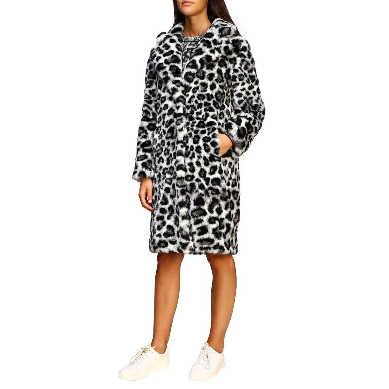 Fur coats Alberta Ferretti: Alberta Ferretti fur with animalier and lynx pattern grey 4