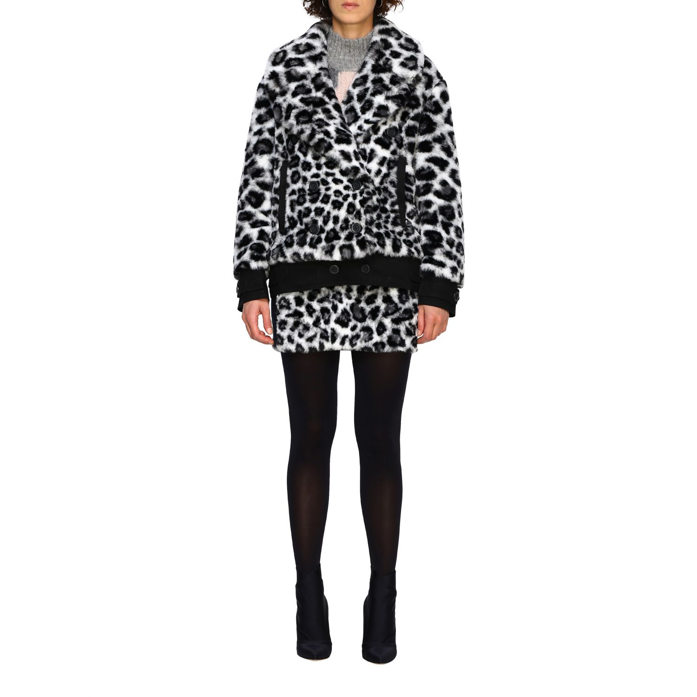 Fur coats Alberta Ferretti: Alberta Ferretti fur with animalier and lynx pattern black 1