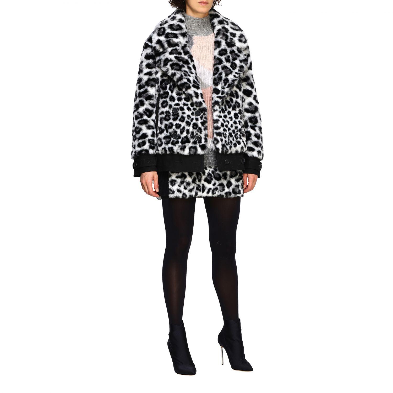 Fur coats Alberta Ferretti: Alberta Ferretti fur with animalier and lynx pattern black 2