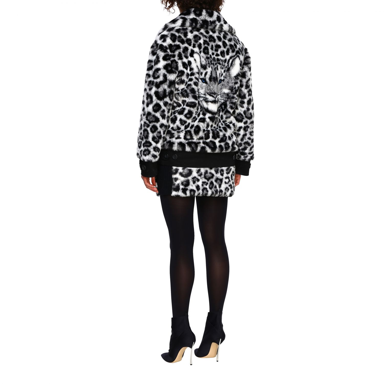 Fur coats Alberta Ferretti: Alberta Ferretti fur with animalier and lynx pattern black 3