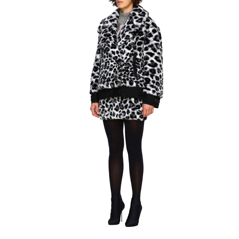 Fur coats Alberta Ferretti: Alberta Ferretti fur with animalier and lynx pattern black 4