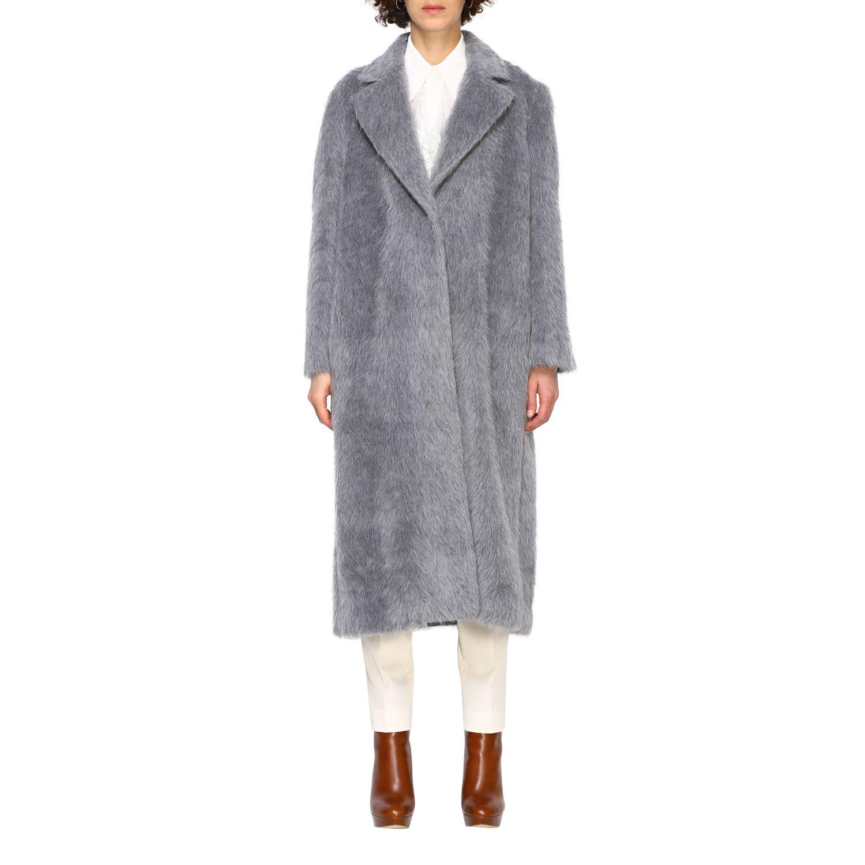 Pelliccia Alberta Ferretti: Cappotto Alberta Ferretti lungo in mohair grigio 1
