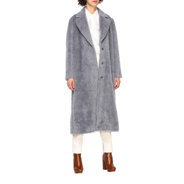 Fur coats Alberta Ferretti: Coat women Alberta Ferretti grey 2