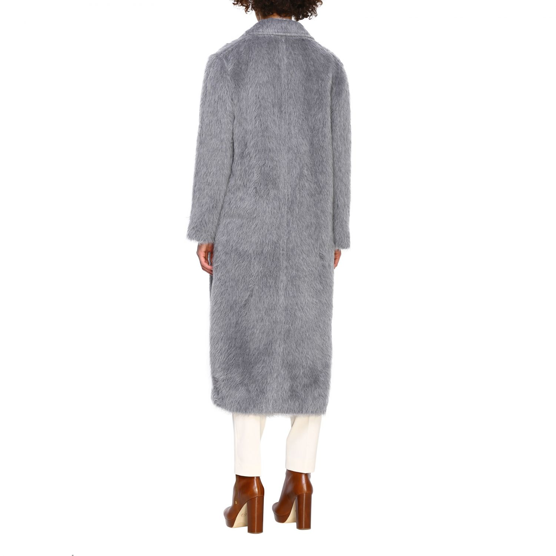 Fur coats Alberta Ferretti: Coat women Alberta Ferretti grey 3