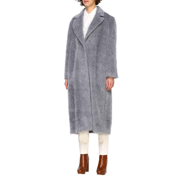 Fur coats Alberta Ferretti: Coat women Alberta Ferretti grey 4