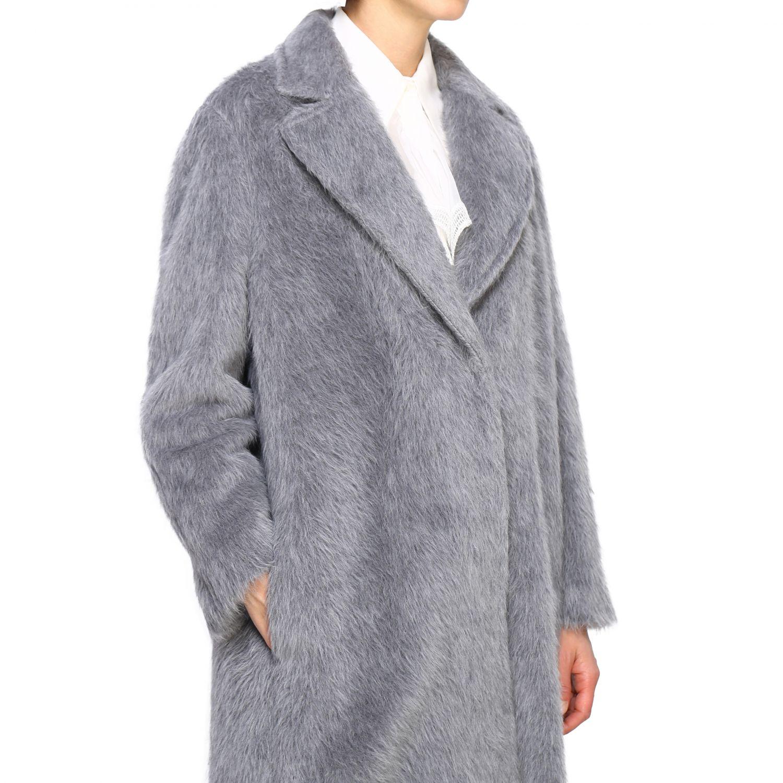 Fur coats Alberta Ferretti: Coat women Alberta Ferretti grey 5