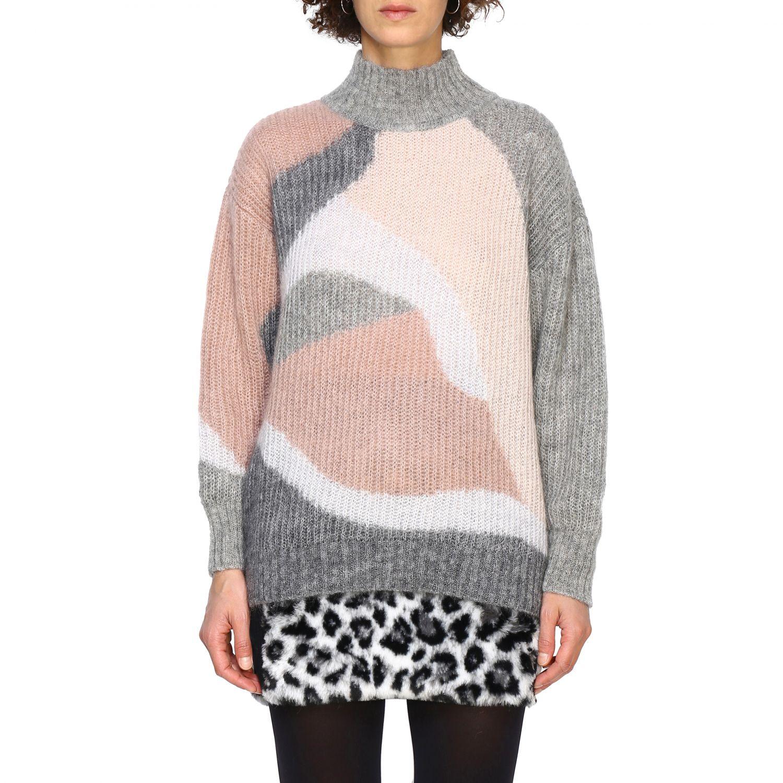 Maglia Alberta Ferretti: Pullover Alberta Ferretti in lana mohair a collo alto grigio 1