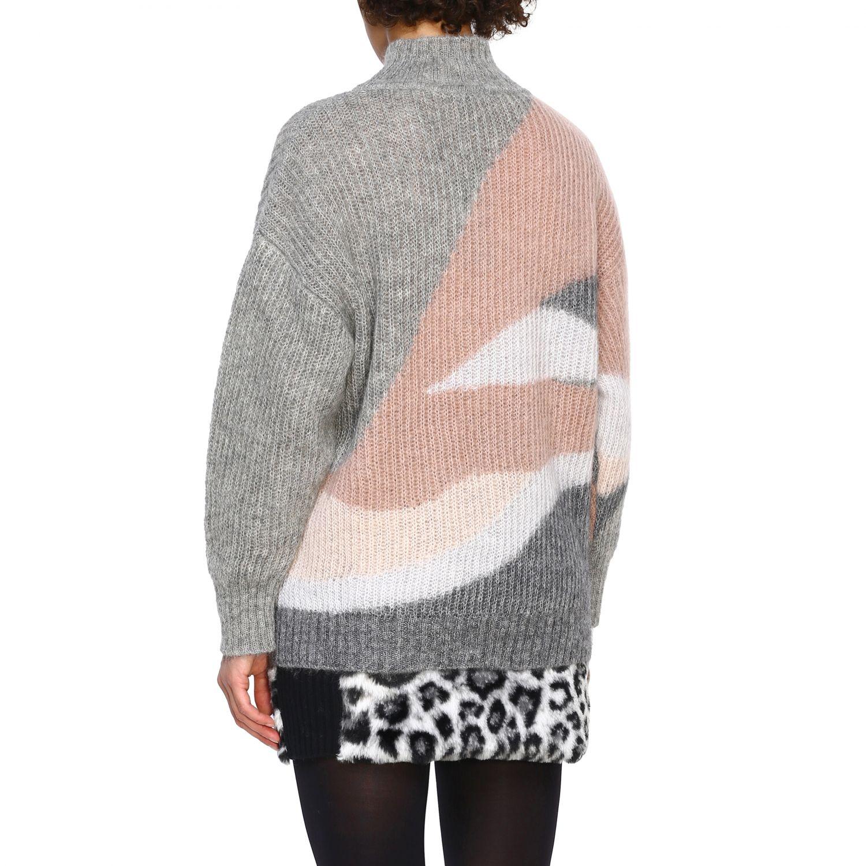 Maglia Alberta Ferretti: Pullover Alberta Ferretti in lana mohair a collo alto grigio 3