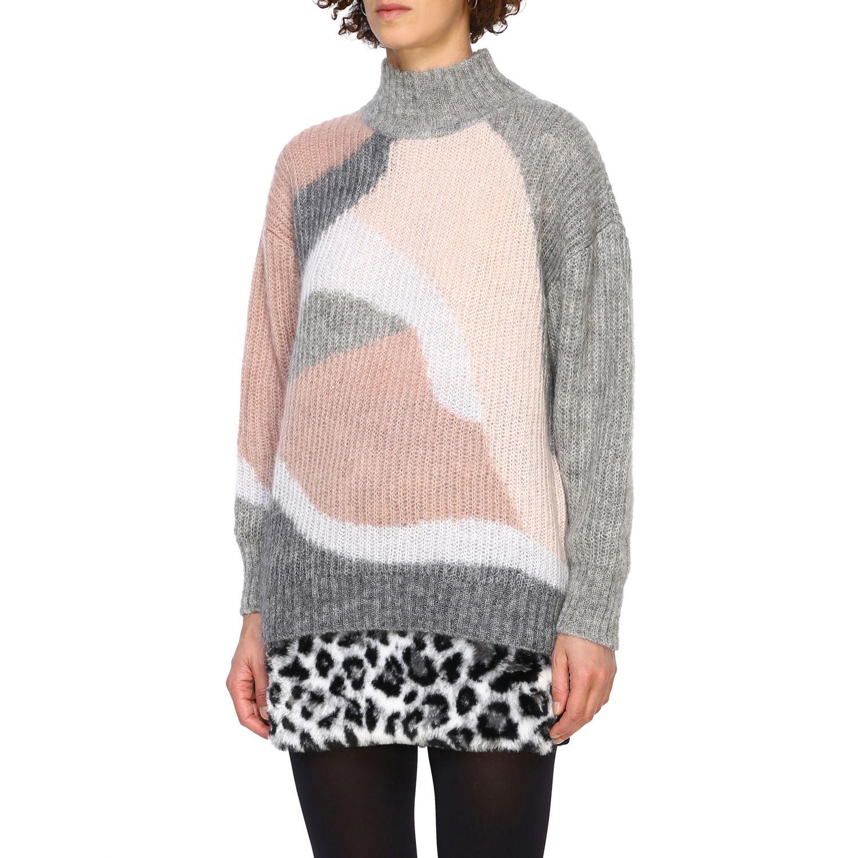 Maglia Alberta Ferretti: Pullover Alberta Ferretti in lana mohair a collo alto grigio 4