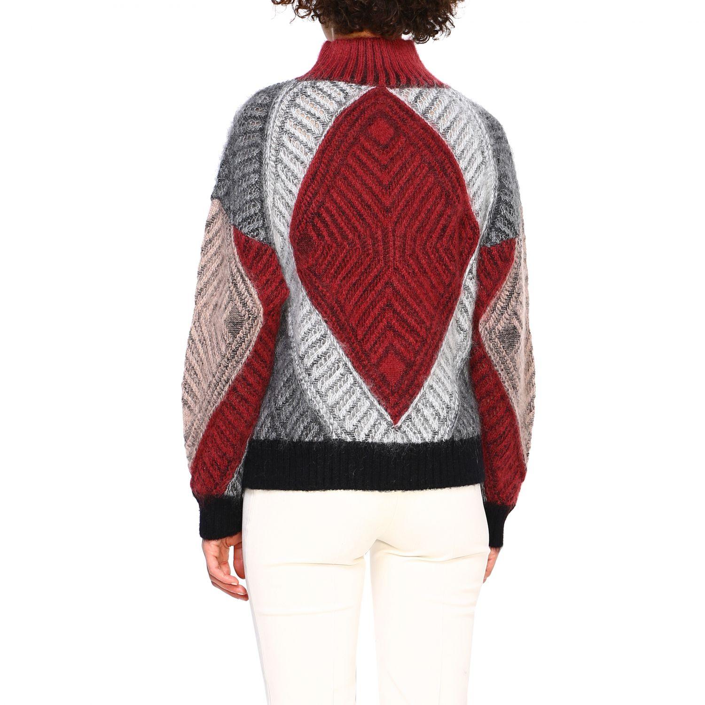 毛衣 Alberta Ferretti: Alberta Ferretti 马海毛羊毛毛衣 酒红 3