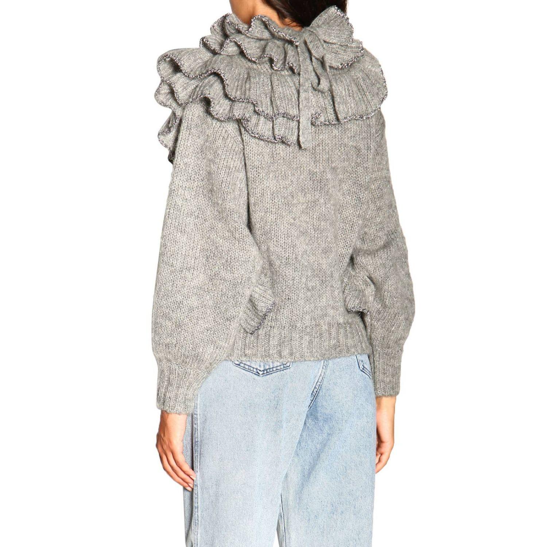 Sweater Alberta Ferretti: Alberta Ferretti sweater in Mohair wool with ruffles grey 3