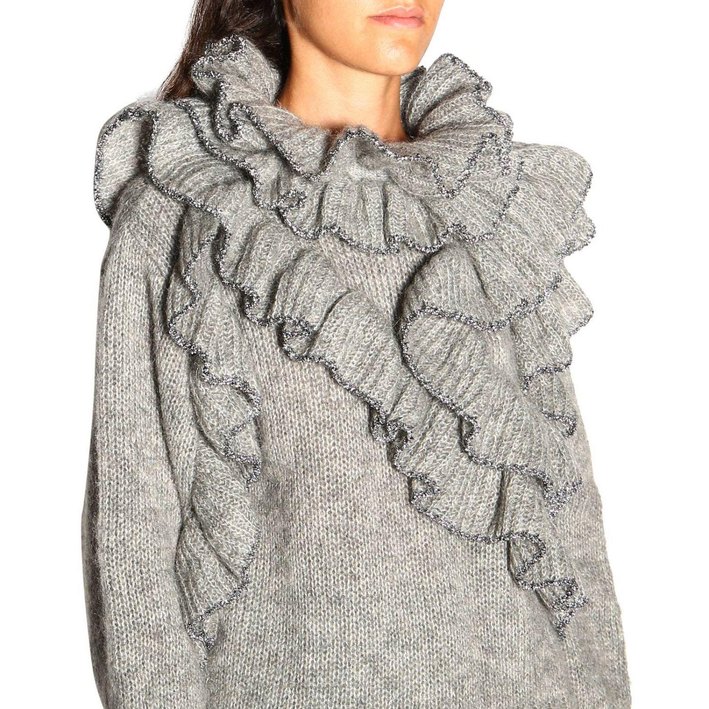 Sweater Alberta Ferretti: Alberta Ferretti sweater in Mohair wool with ruffles grey 5