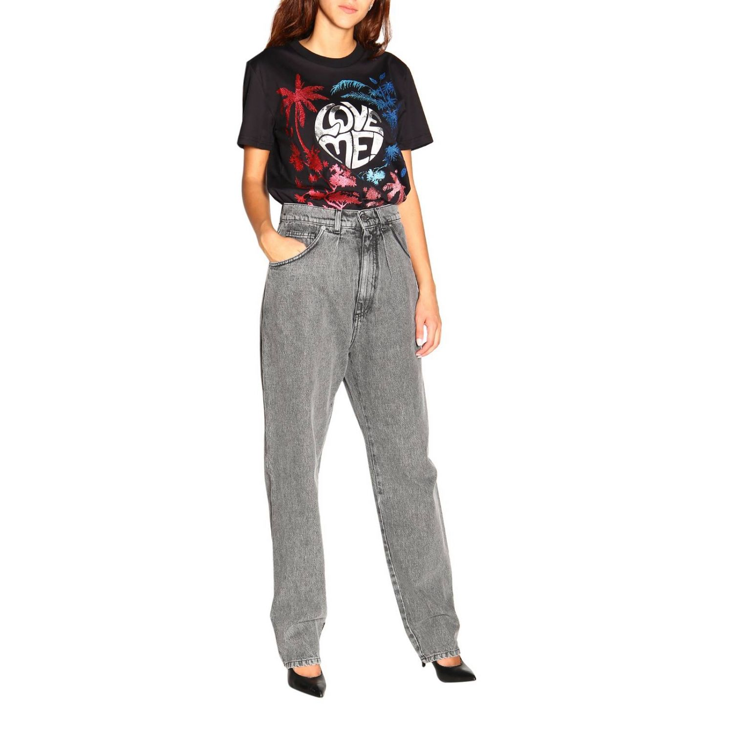 Jeans Alberta Ferretti: Alberta Ferretti high waisted jeans in used effect denim grey 2