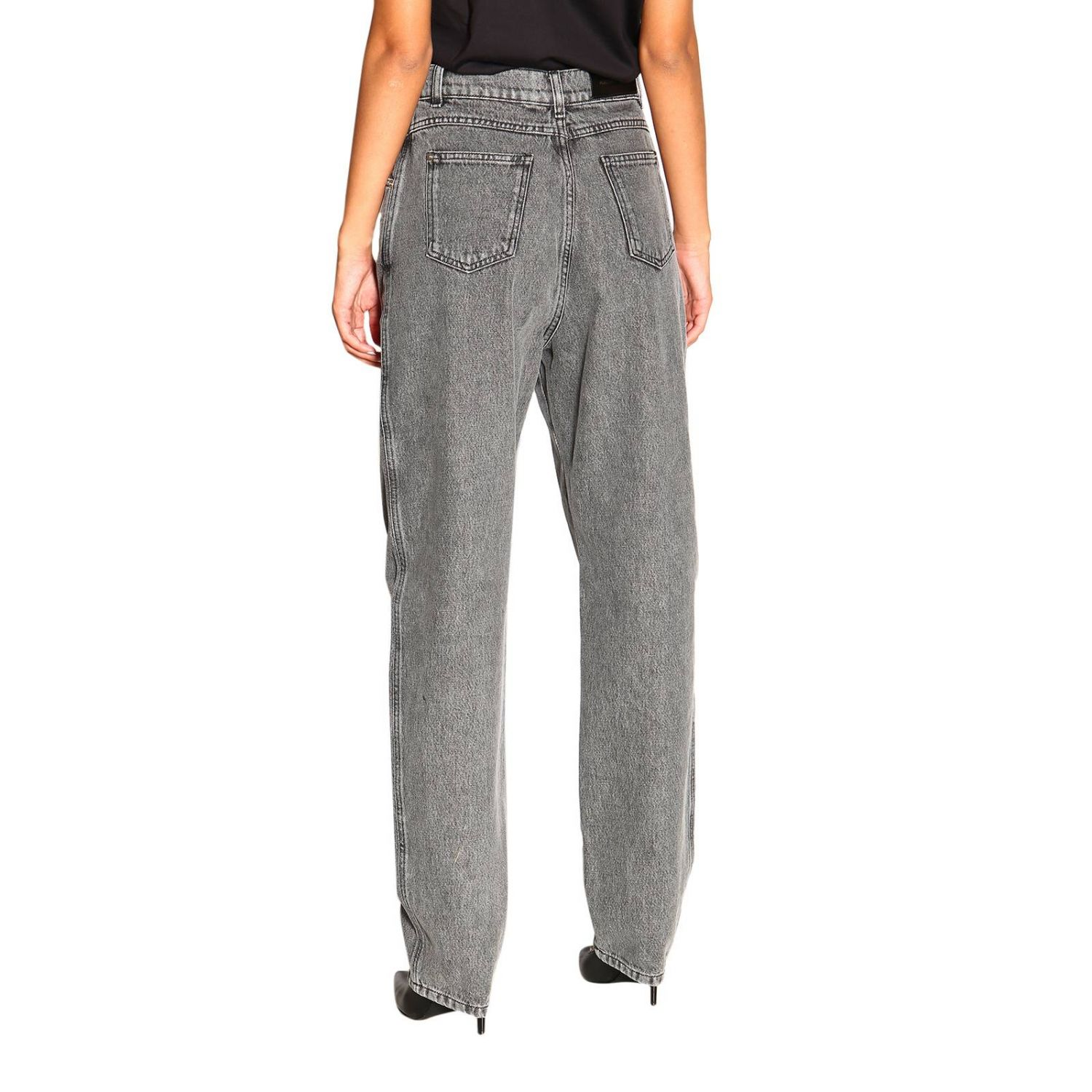 Jeans Alberta Ferretti: Alberta Ferretti high waisted jeans in used effect denim grey 3