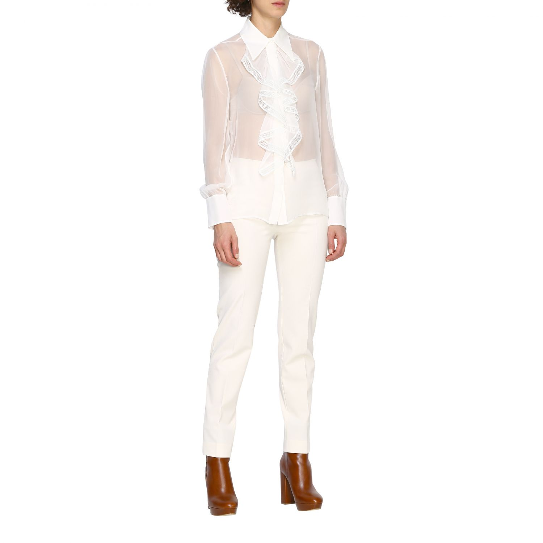 Trousers Alberta Ferretti: Trousers women Alberta Ferretti white 2