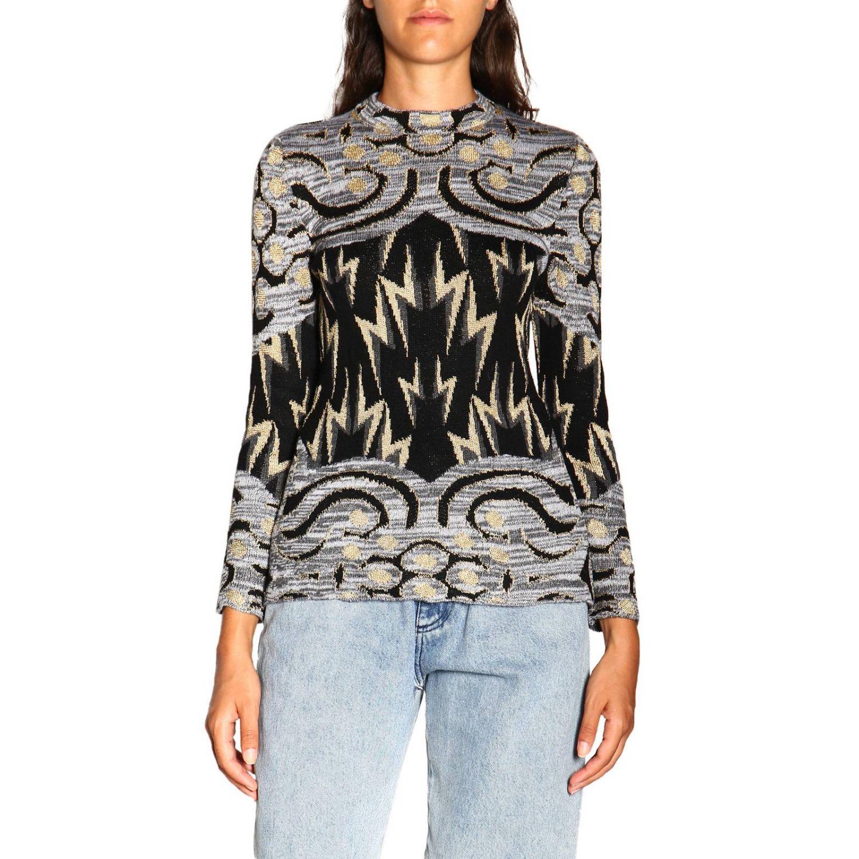 Sweater Alberta Ferretti: Alberta Ferretti crewneck sweater with jacquard pattern grey 1