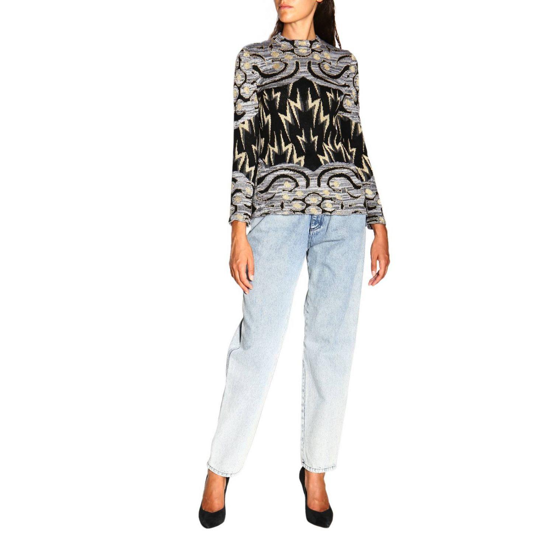 Sweater Alberta Ferretti: Alberta Ferretti crewneck sweater with jacquard pattern grey 2