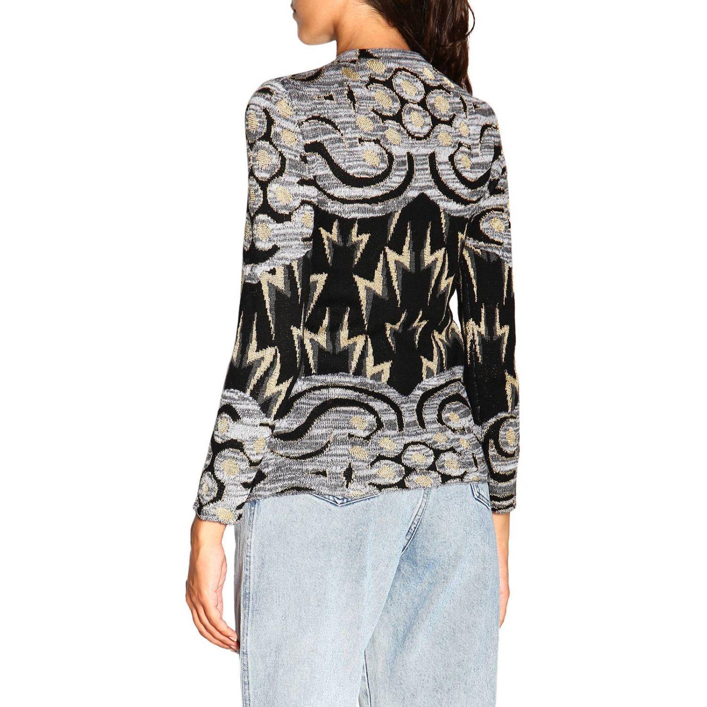 Sweater Alberta Ferretti: Alberta Ferretti crewneck sweater with jacquard pattern grey 3
